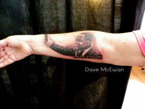 martin luther king portrait tattoo Tauranga New Zealand