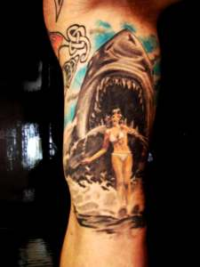 jaws tattoo Tauranga New Zealand