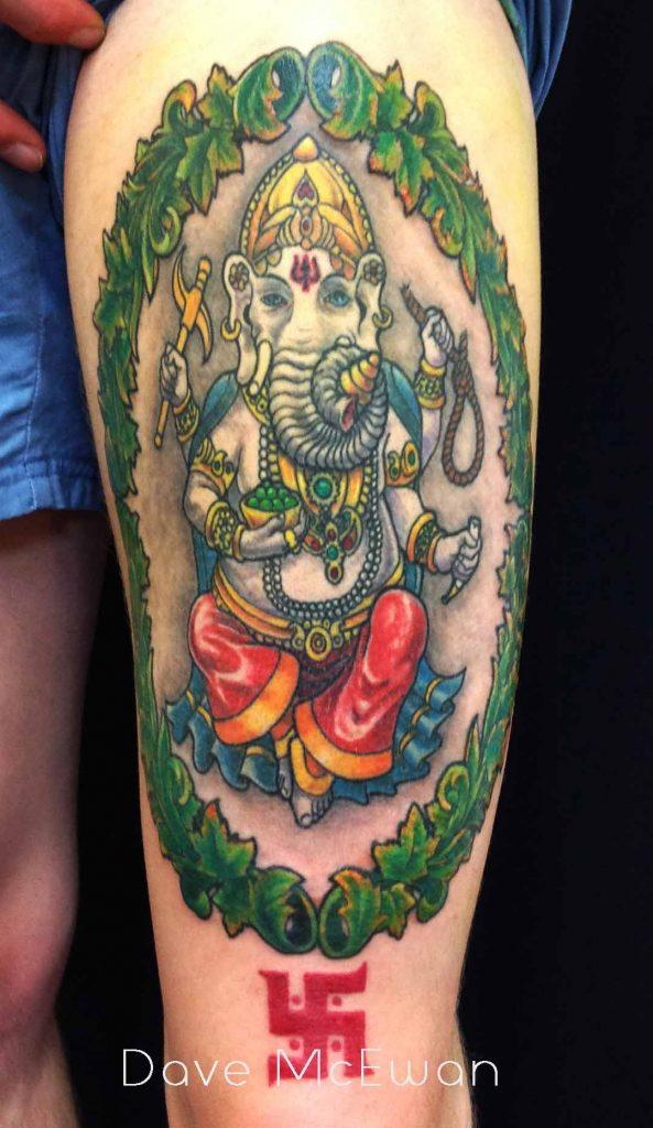 Hindi Ganesha tattoo Tauranga New Zealand