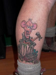 rat cartoon tattoo Tauranga New Zealand