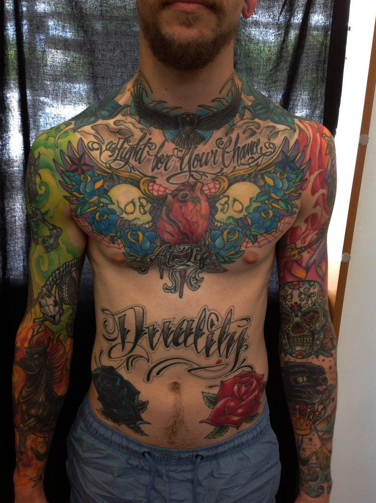chest tattoo Tauranga New Zealand
