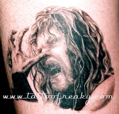 metalica portrait tattoo Tauranga New Zealand