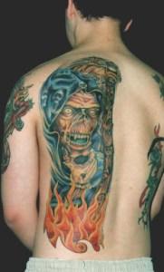 reaper grim tattoo Tauranga New Zealand