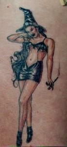 pin up witch tattoo Tauranga New Zealand