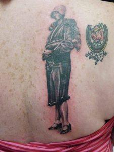 vintage photo portrait tattoo Tauranga New Zealand