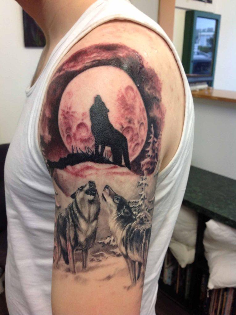 Wolf Tattoo design Tauranga NZ