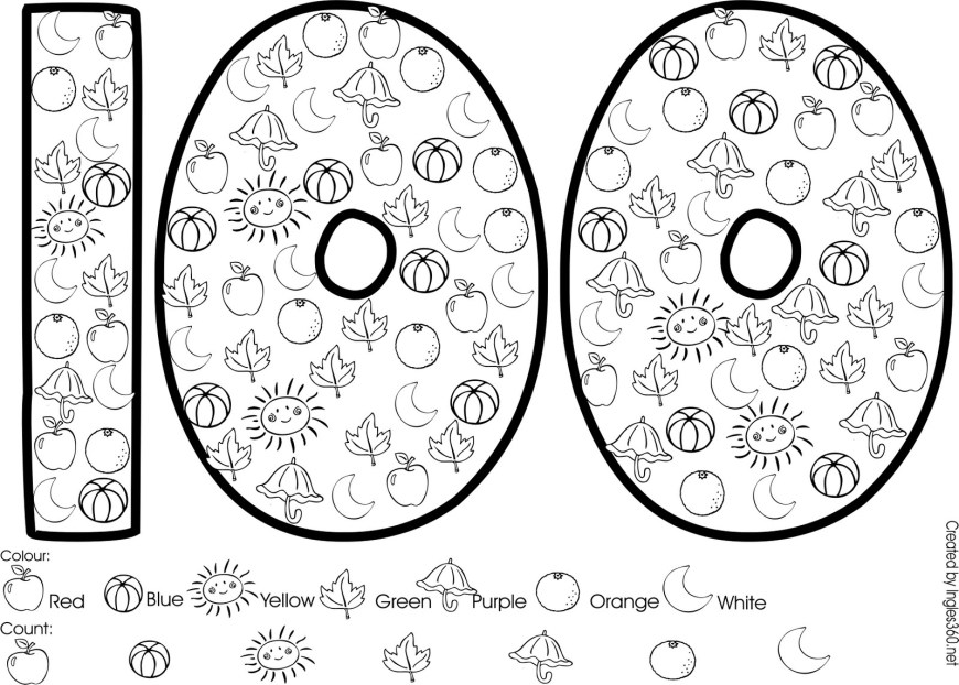 100th Day Of School Coloring Pages 100 Day Of School Coloring Pages Day Coloring Page 100th Of School