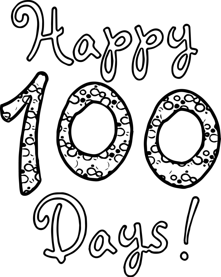 Exclusive Photo Of 100th Day Of School Coloring Pages Davemelillo Com