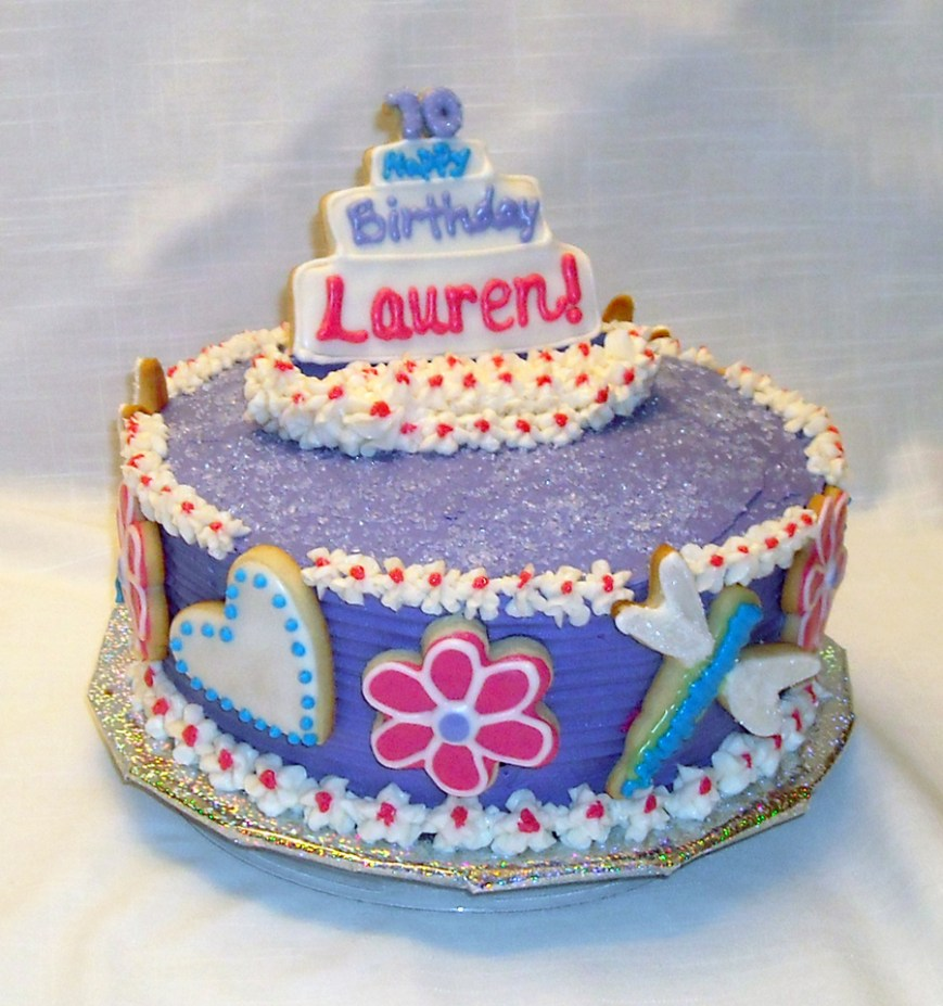 10Th Birthday Cake Happy 10th Birthday Lauren Cakecentral