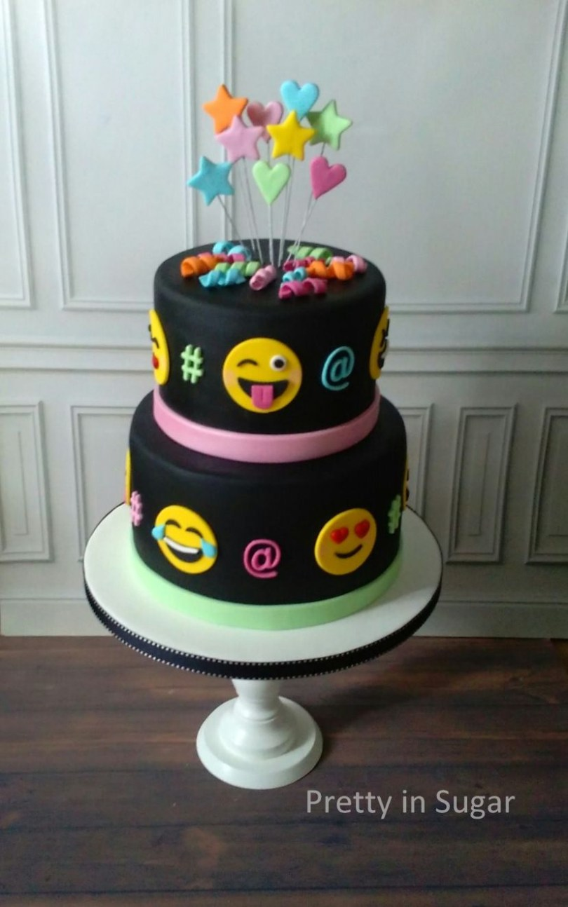 11 Year Old Birthday Cakes Emoji Cake When A 11 Years Old Girl Designs Her Own Cake Girl