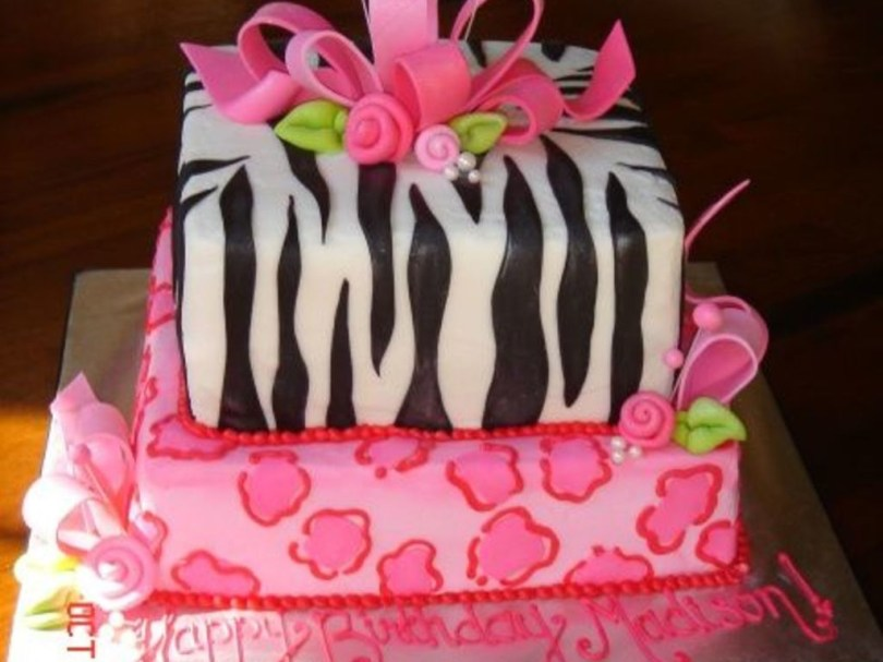 11 Year Old Birthday Cakes Girly Animal Print Birthday Cake Cakecentral