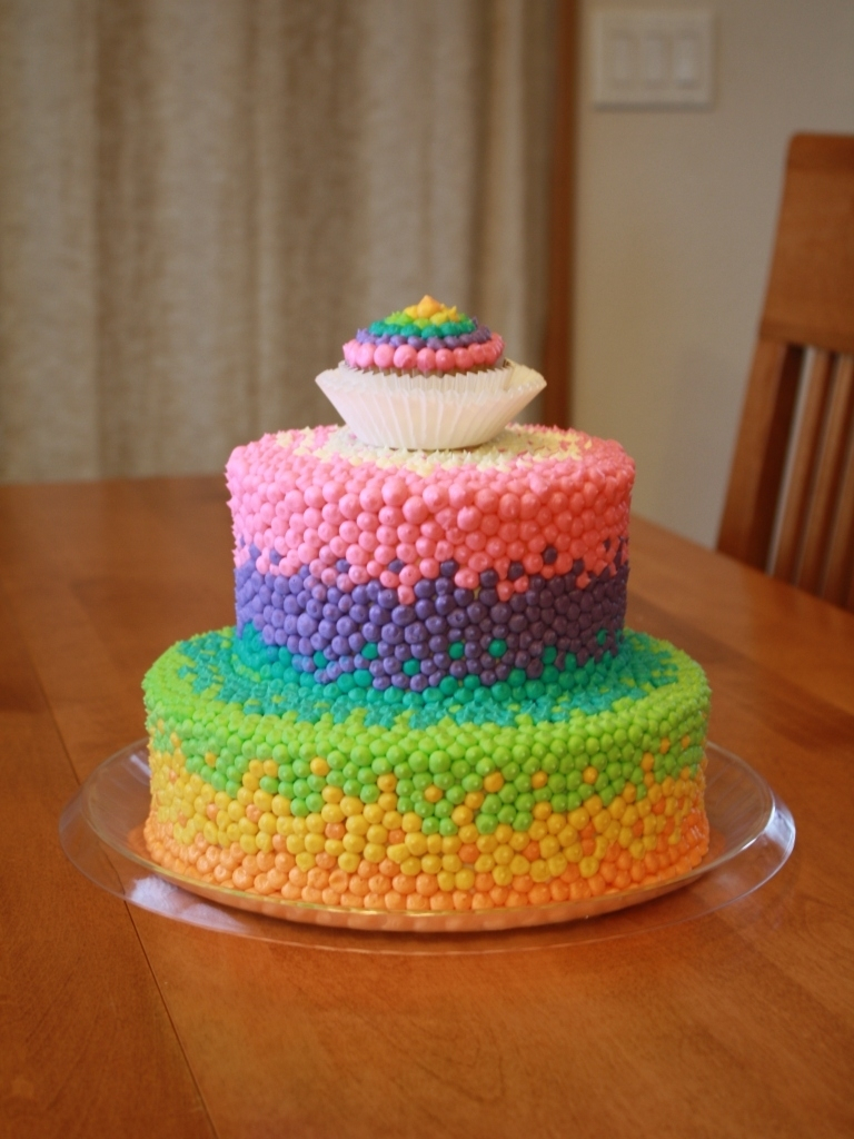 11 Year Old Birthday Cakes Party Cakes Rainbow Dot Cake For Brooklyn Throughout Birthday Cake