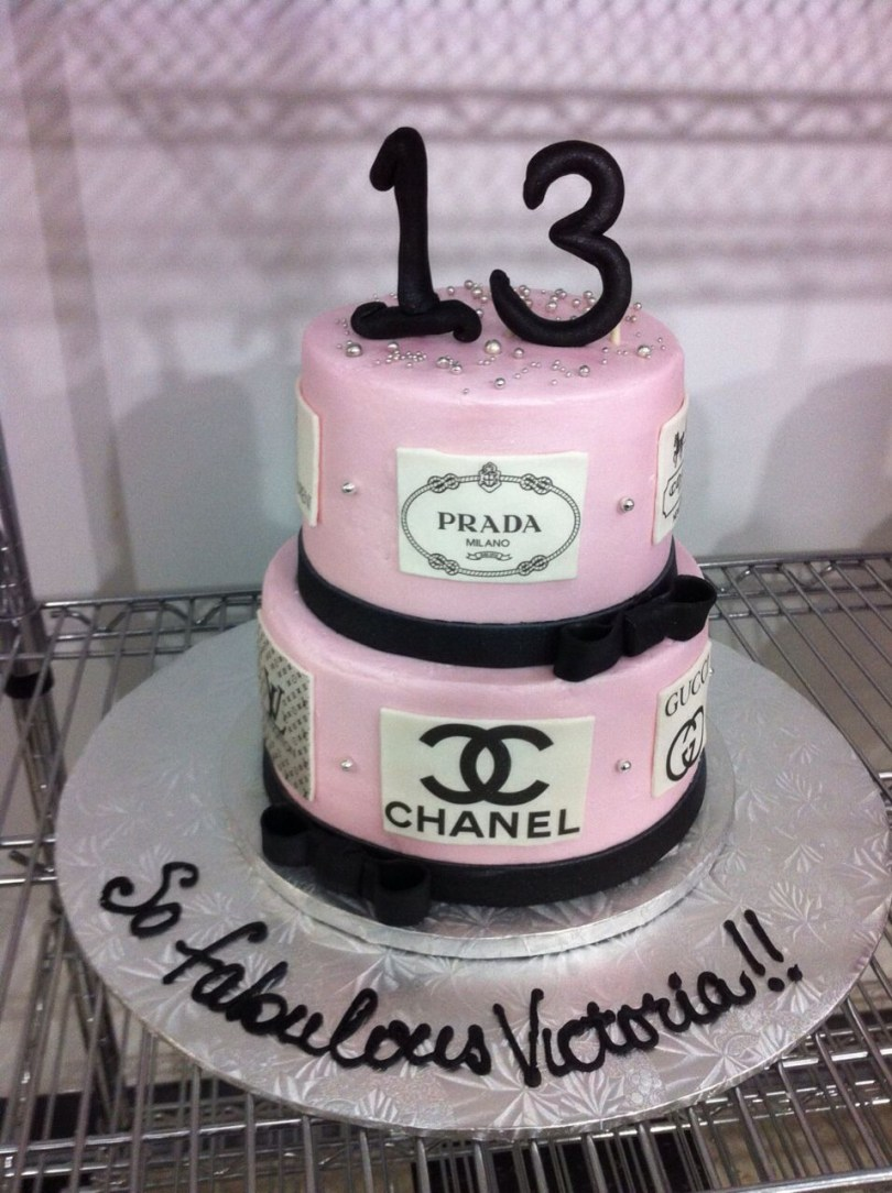 13 Year Old Birthday Cakes 2 Tier Cake For A 13 Year Old Fashionista Birthday And Specialty