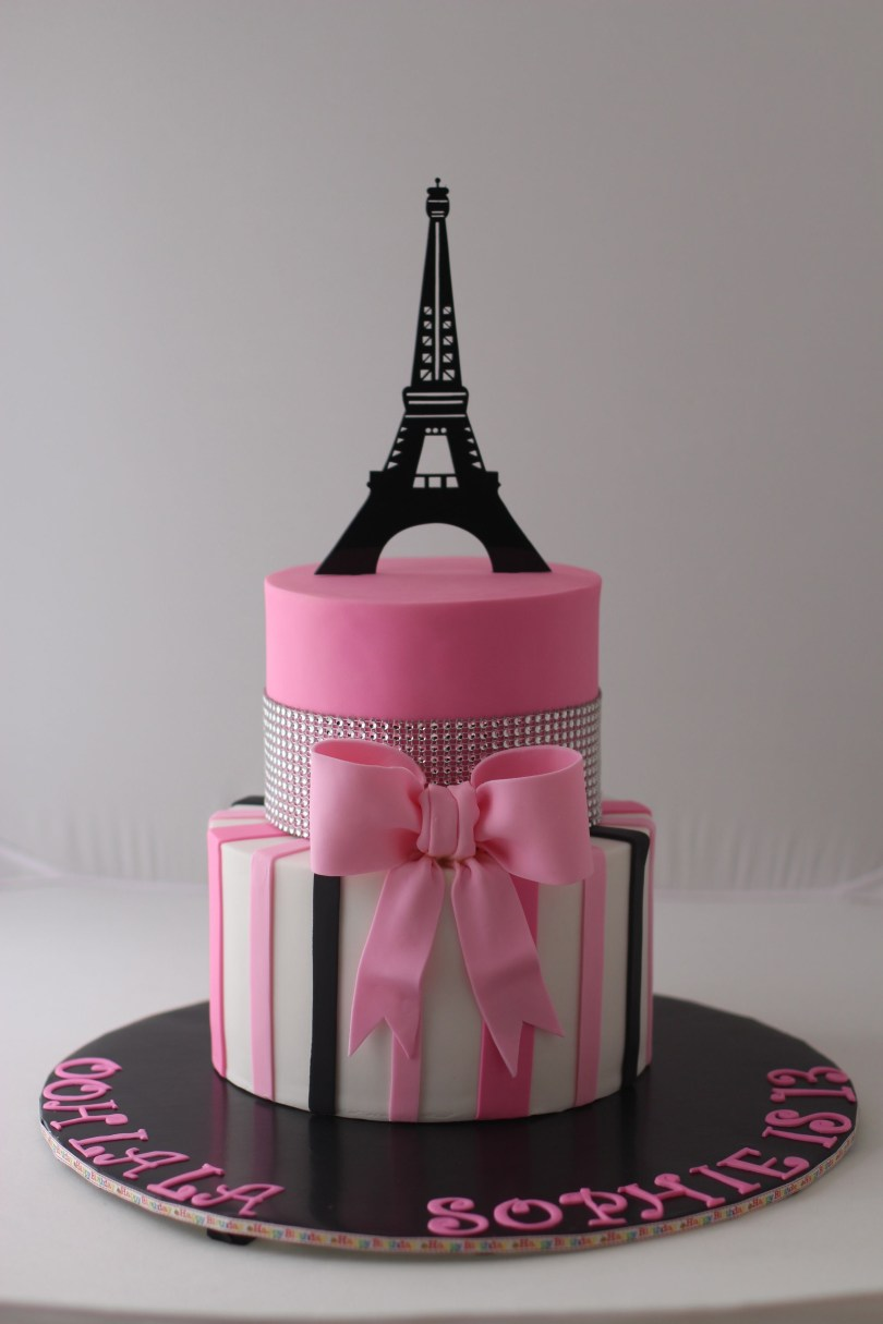 13 Year Old Birthday Cakes Paris Themed Birthday Cake For A 13 Year Old Girl Thanks For Pinning