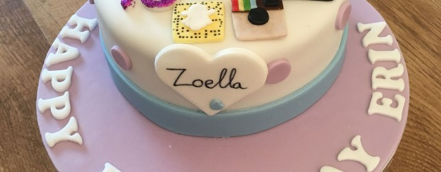 13 Year Old Birthday Cakes Zoella Theme Birthday Cake For 13 Year Old Bday Party Pinterest