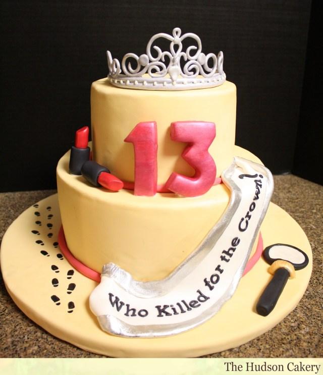 13Th Birthday Cake 13th Birthday Murder Mystery Cake The Hudson Cakery
