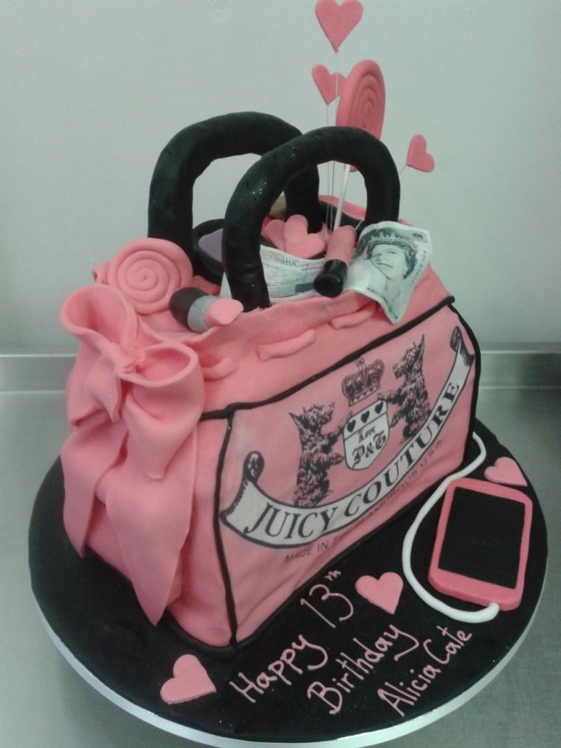 13Th Birthday Cake Juicy Couture Girly Handbag 13th Birthday Cake Crumbs Cake Shop