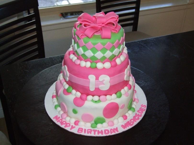 13Th Birthday Cake Three Sweet Cakes 13th Birthday Cake