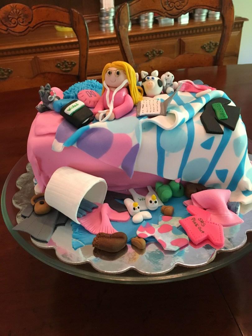 15Th Birthday Cakes 15th Birthday Cake Messy Bedroom Cakescupcakescookiespies