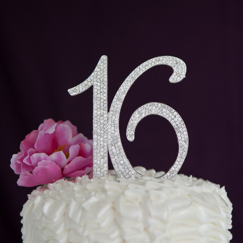 16Th Birthday Cake Ideas Sweet 16 Cake Topper 16th Birthday Party Supplies Decoration Ideas