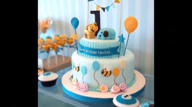 1St Birthday Cakes For Boys Ba Boy 1st Birthday Cake Photos Youtube