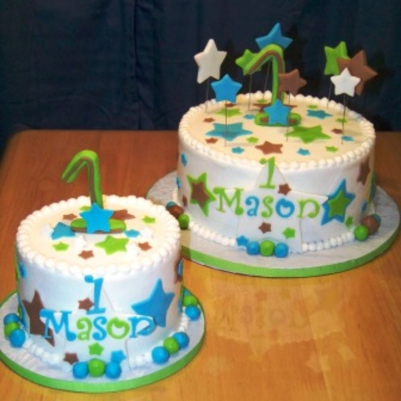 1St Birthday Cakes For Boys Boys 1st Birthday Cake And Smash Cake Cakecentral