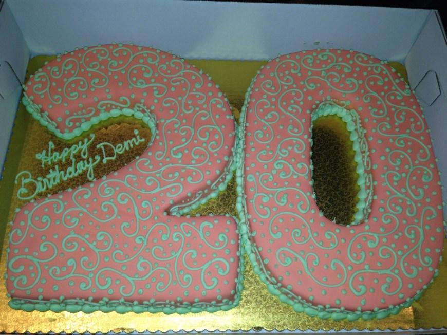 20Th Birthday Cake 20th Birthday Cake Food 20 Birthday Cake Birthday Cake Birthday