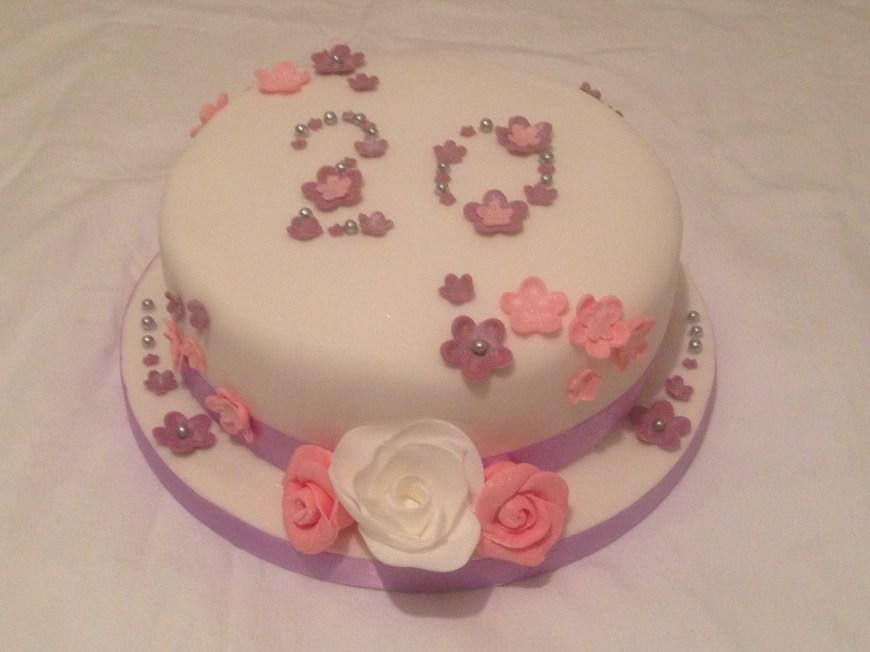 20Th Birthday Cake 20th Birthday Cake My Cakes Cakes