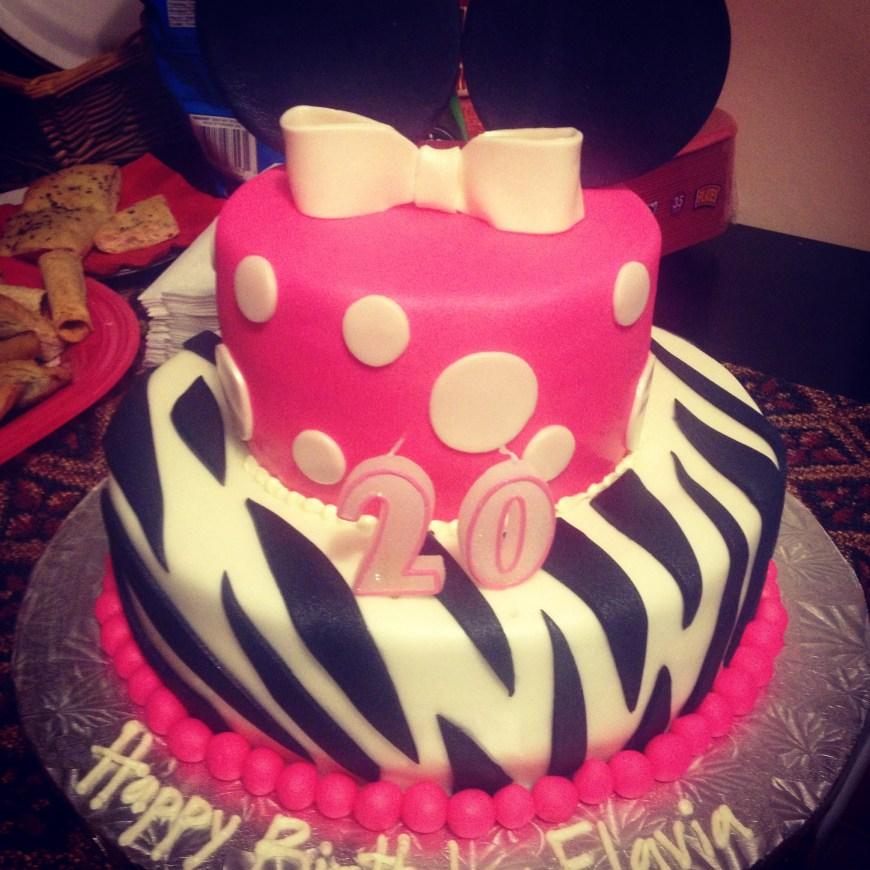 20Th Birthday Cake 20th Birthday Cakes