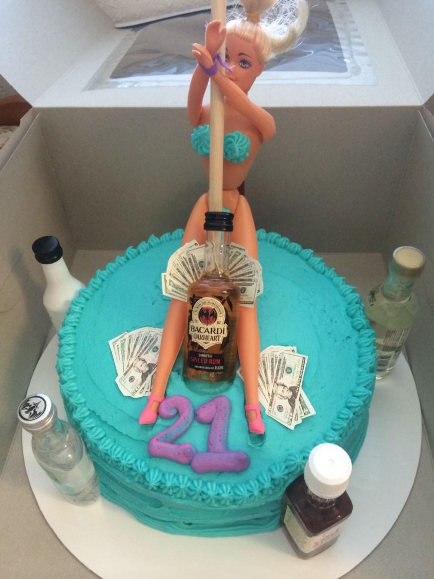 21St Birthday Cake Ideas 21st Birthday Cake Stripper Cake Alcohol Cake Money Mens Cake