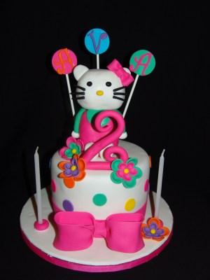 2Nd Birthday Cake Hello Kitty 2nd Birthday Cake Happy Birthday Ava Cakes Me