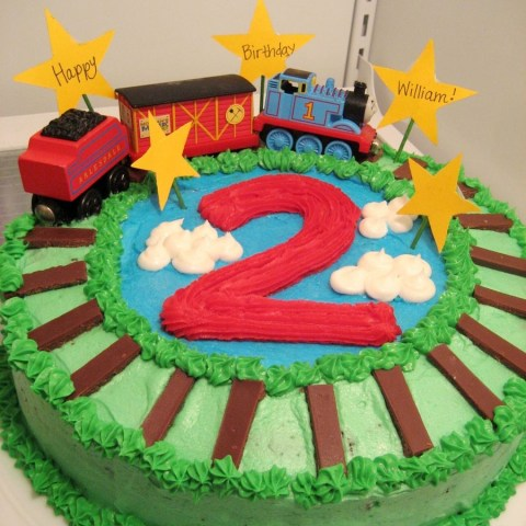 2Nd Birthday Cake Thomas The Train Cake For Sons 2nd Birthday Chocolate Mint