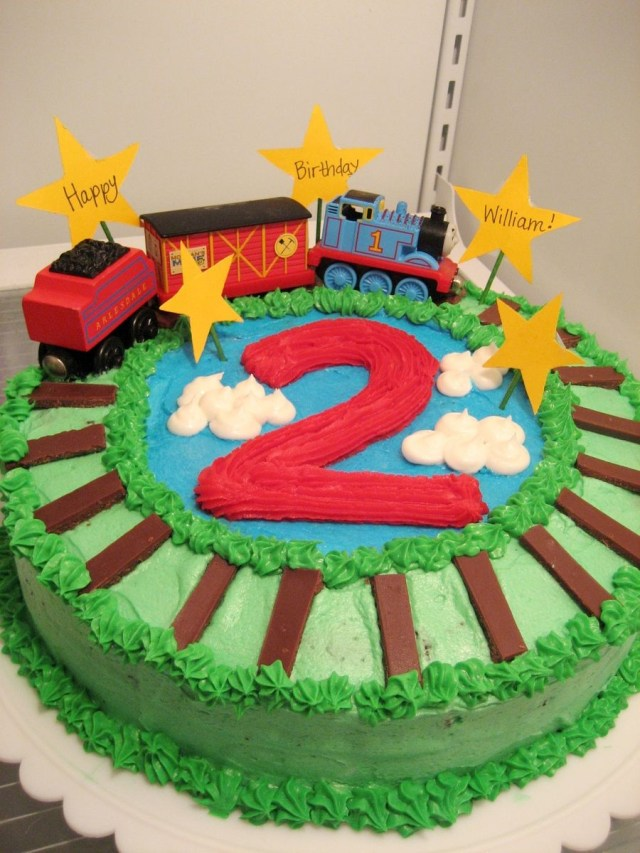 2Nd Birthday Cake Thomas The Train For Sons 2nd Chocolate Mint
