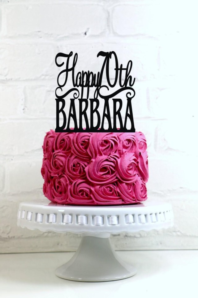 70Th Birthday Cake Ideas Happy 70th Topper Personalized With Name And Age