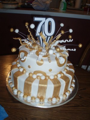 70Th Birthday Cakes 70th Birthday Cake Fondant Covered White Cakeplease Let Me Know What