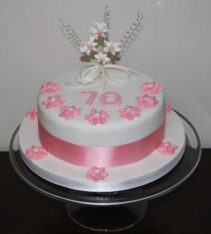 70Th Birthday Cakes Say It With Cake 70th Birthday Cake Lovinghomemade