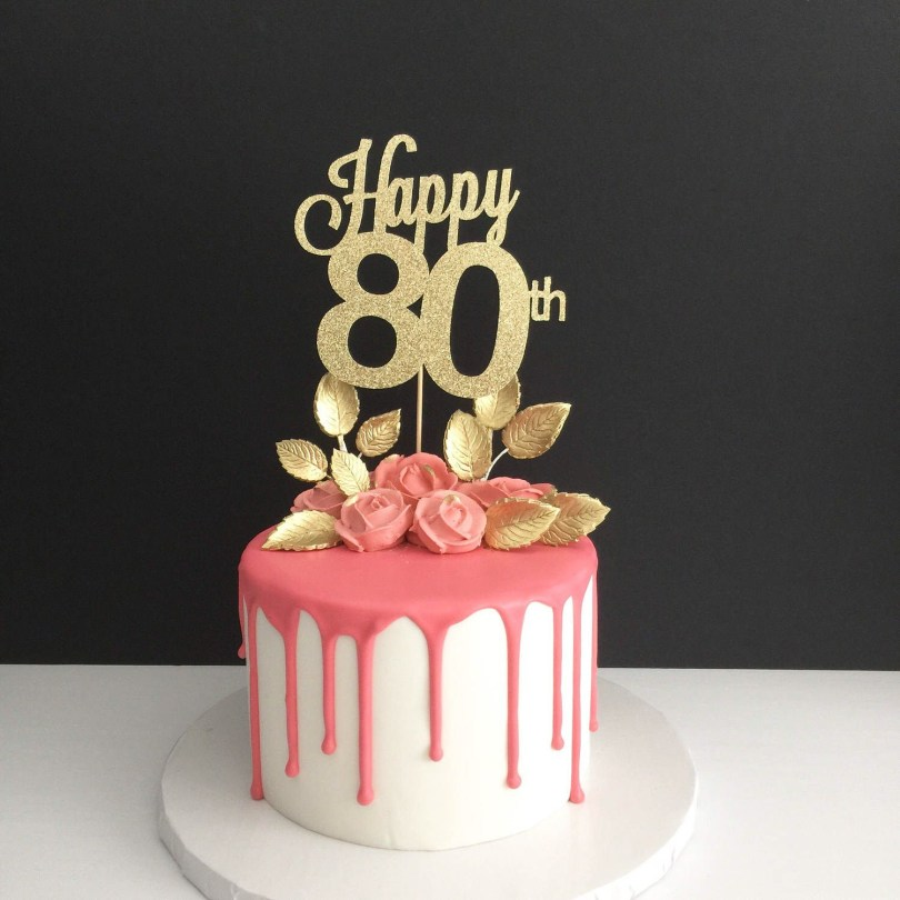 80Th Birthday Cake Ideas Any Age 80th Birthday Cake Topper Happy 80th Cake Topper Birthday