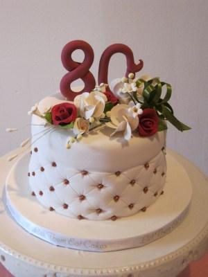 80Th Birthday Cake Ideas Let Them Eat Cakes 80th Birthday