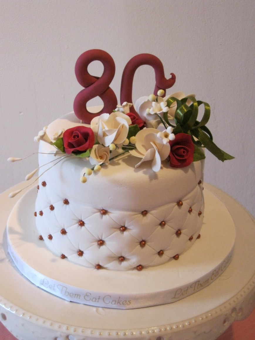 80Th Birthday Cake Ideas Let Them Eat Cakes 80th