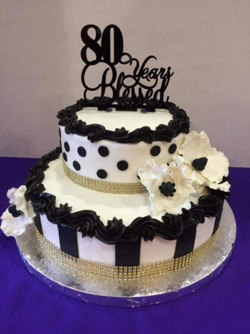 80Th Birthday Cake Ideas Moms 80th Birthday Cake Cakecentral