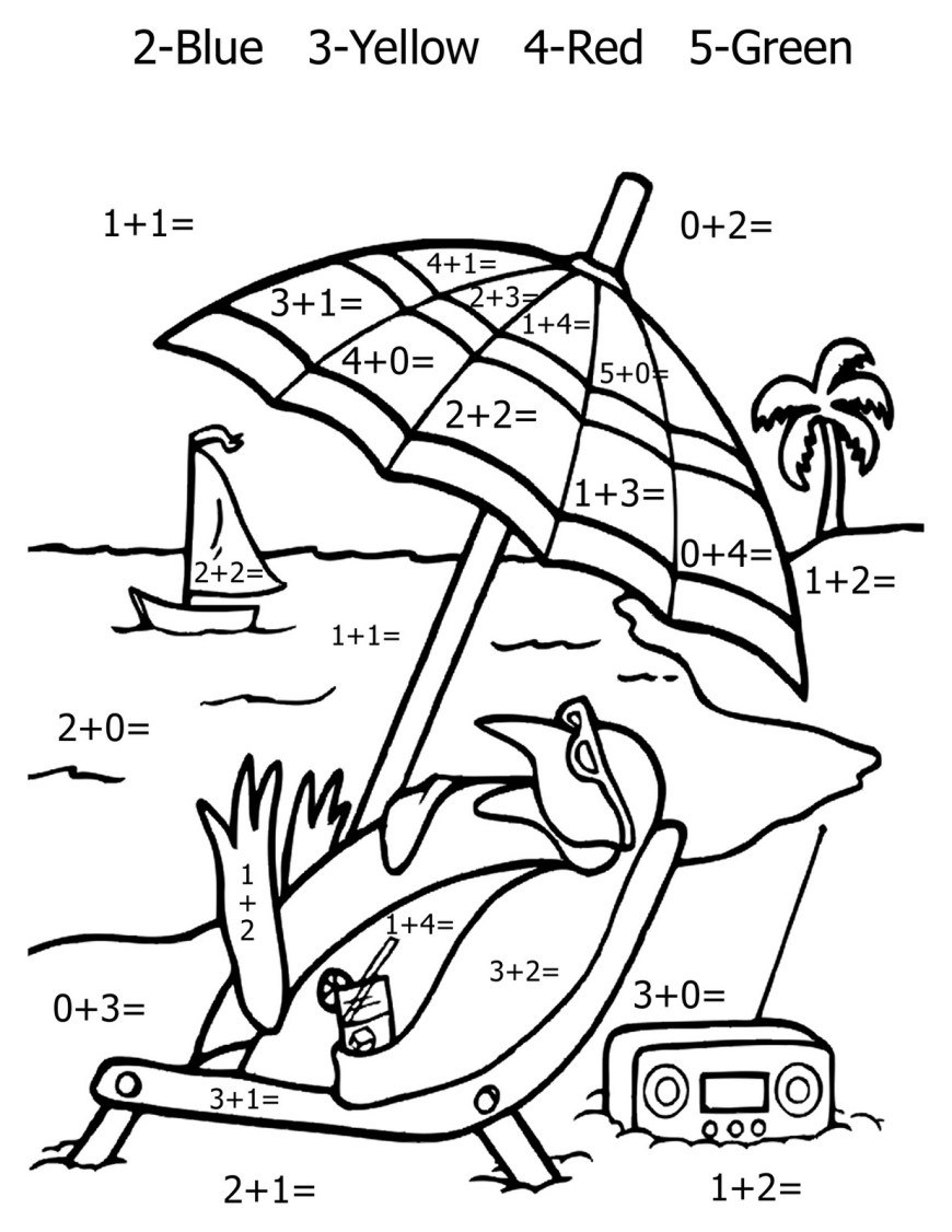 Addition Coloring Pages Free Math Addition Coloring Sheets Murderthestout