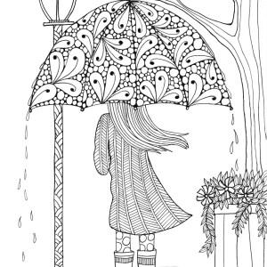 Adult Coloring Pages Coloring Page Adult Coloring Art Umbrellagirl Page Free Printable