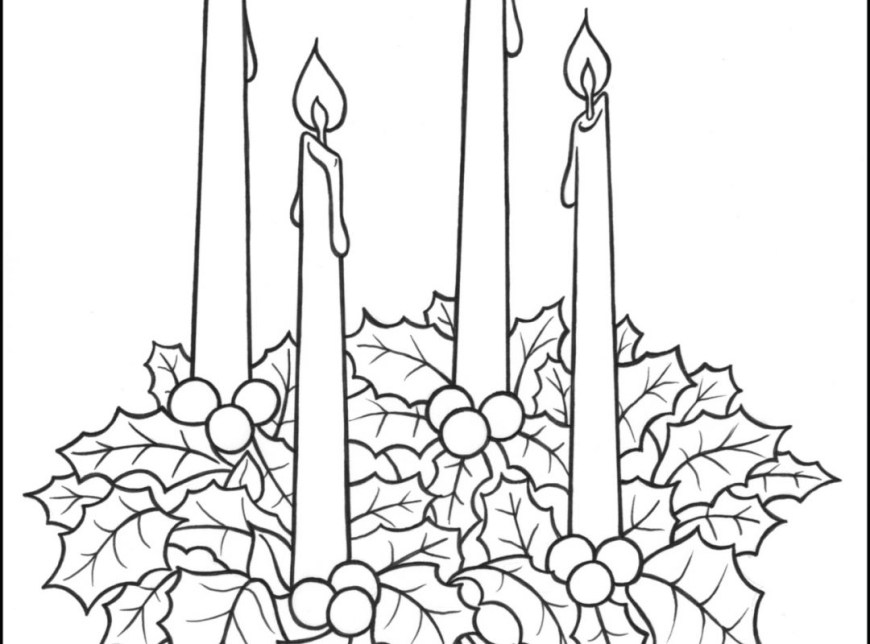 Advent Wreath Coloring Page Advent Coloringages Singular Free Catholicdfrintable To Coloring