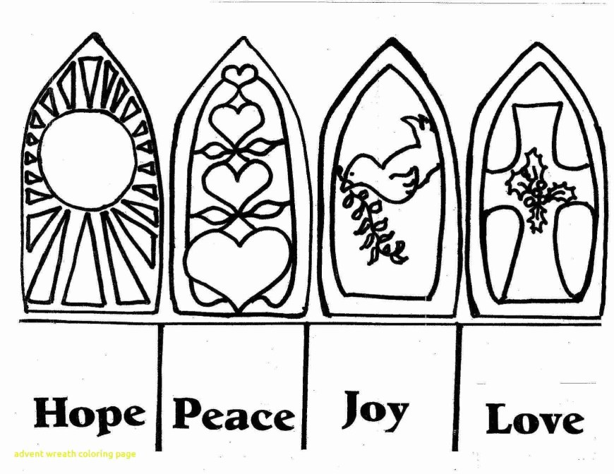 Advent Wreath Coloring Page Advent Wreath Coloring Page With Pages For Kids Houses Amazing Csad