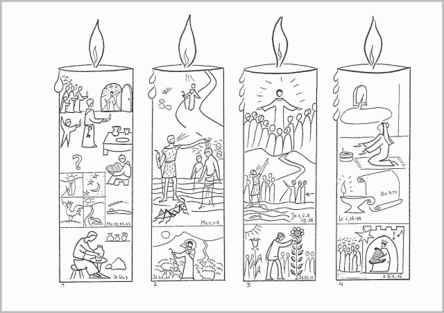Pretty Picture of Advent Wreath Coloring Page ...