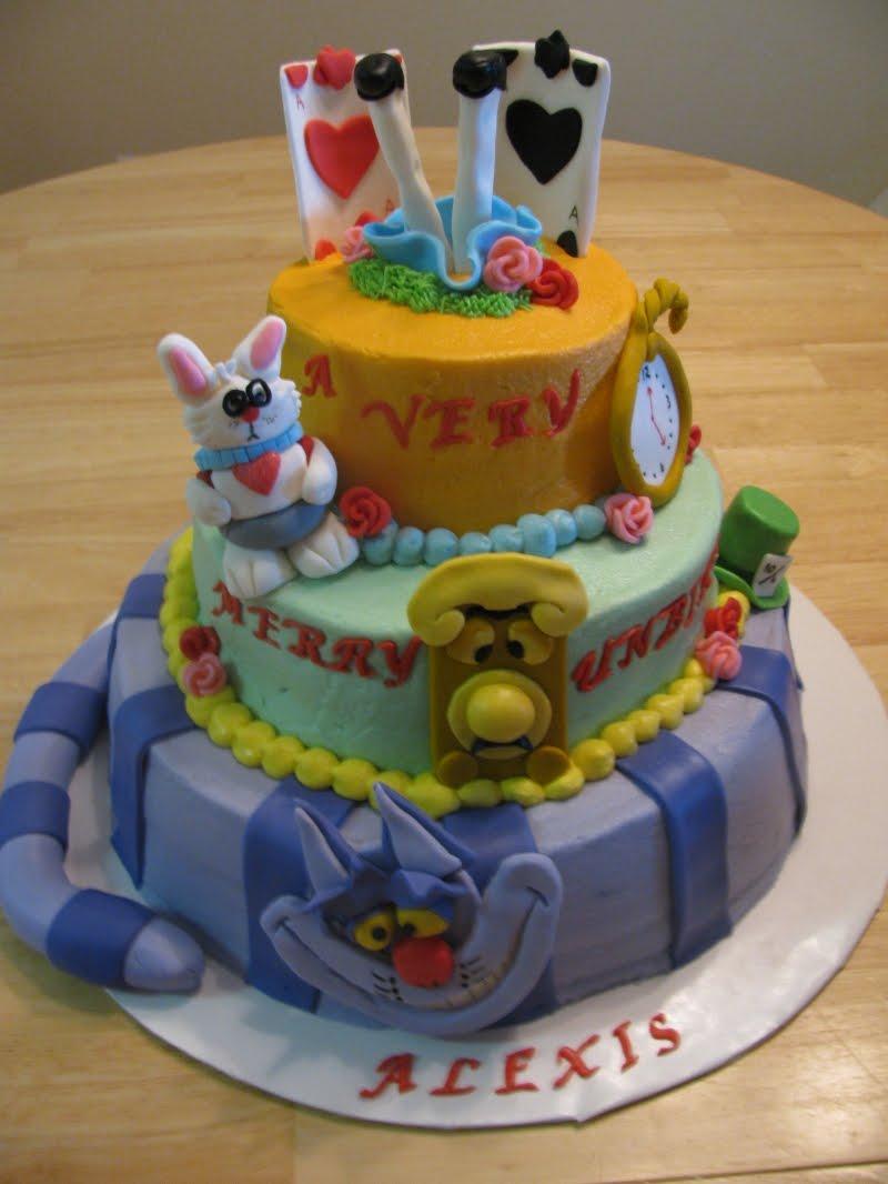 Alice In Wonderland Birthday Cake Alice In Wonderland Birthday Cake Ideas Walahwalah