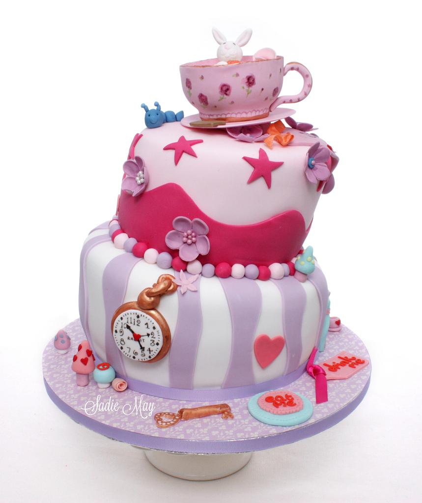 Alice In Wonderland Birthday Cake Alice In Wonderland Birthday Cake Wwwsadiemaycakescouk Flickr