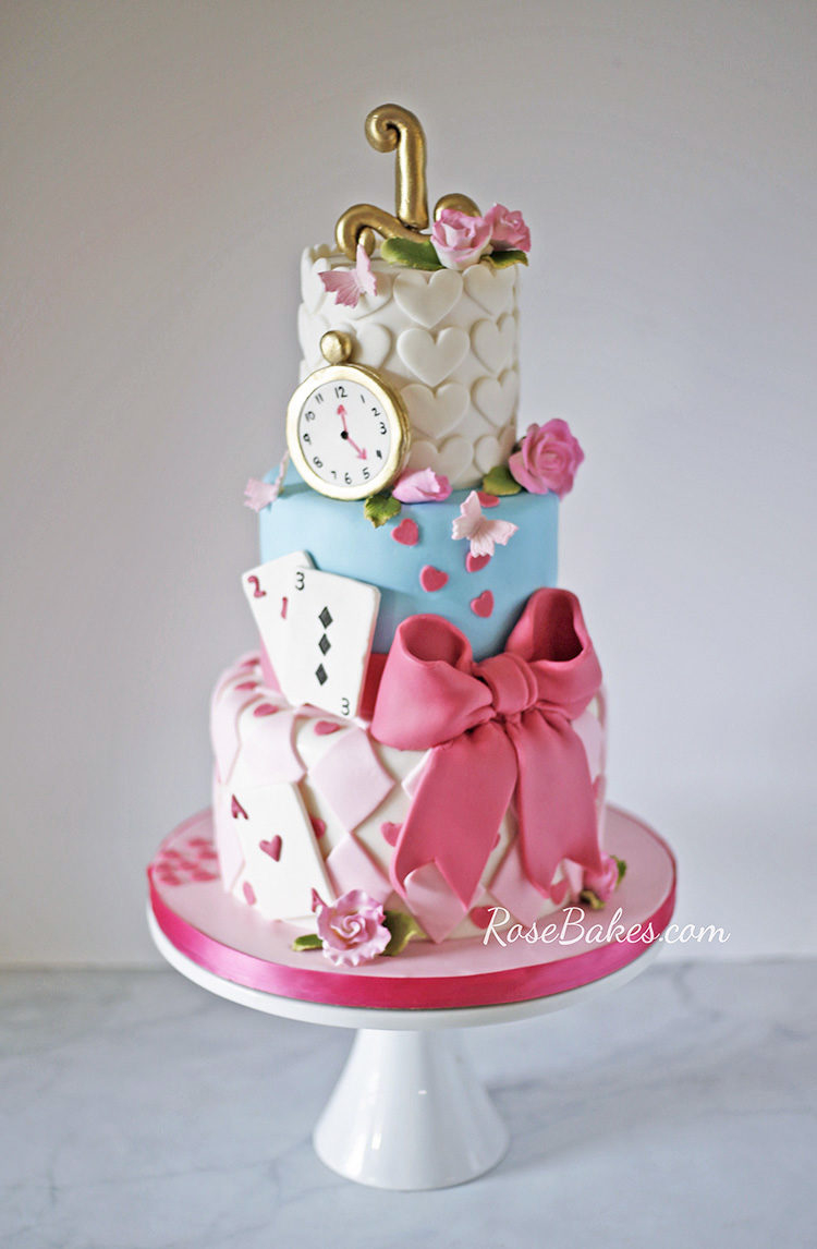 Alice In Wonderland Birthday Cake Alice In Wonderland Cake Rose Bakes
