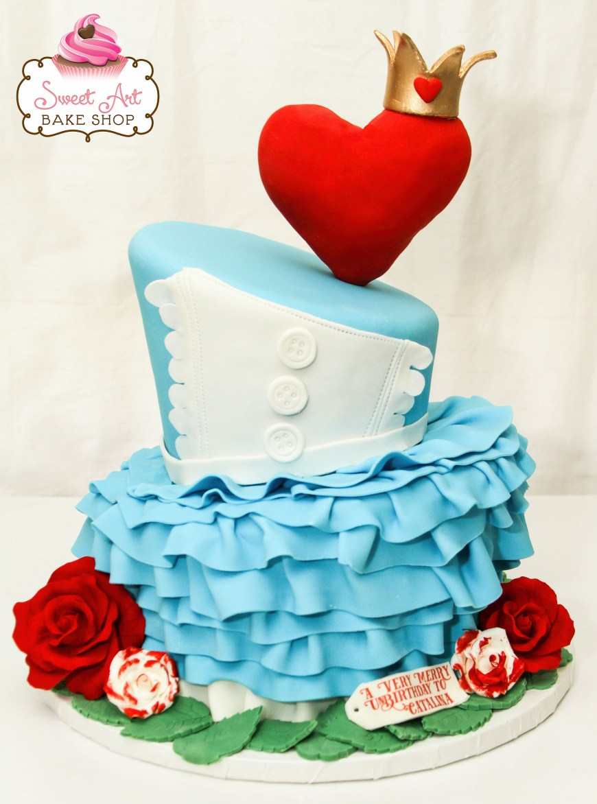 Alice In Wonderland Birthday Cake Alice In Wonderland Cake Sweet Art Bake Shop Celebration Cakes