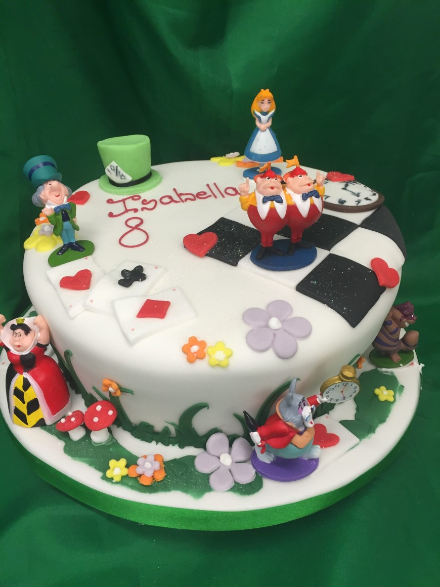 Alice In Wonderland Birthday Cake Small Alice In Wonderland Cake M Rays Bakery